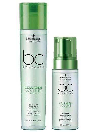 Bonacure Collagen Doğal Hacim Saç Bakım Şampuanı 250ml +  Krem 150ml   2Lİ SET Renksiz